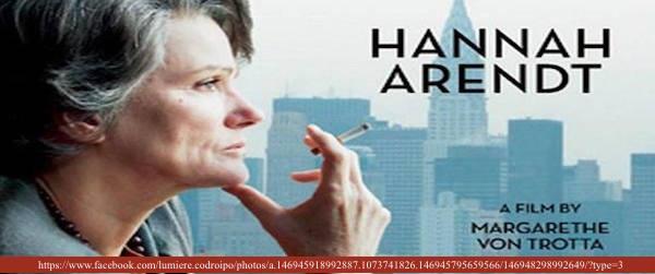 HANNAH ARENDT di Margarethe Von Trotta, 2013
