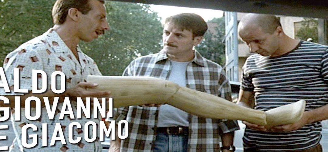TRE UOMINI E UNA GAMBA di Aldo, Giovanni, Giacomo e Massimo Venier, 1997