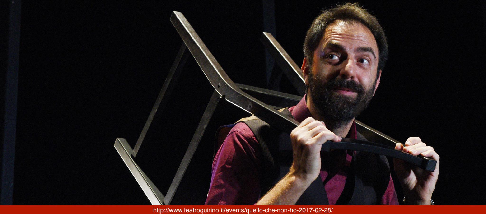 QUELLO CHE NON HO di Neri Marcorè, drammaturgia e regia di Giorgio Gallione