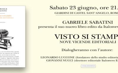VISTO SI STAMPI di Gabriele Sabatini – Italosvevo edizioni, 2018