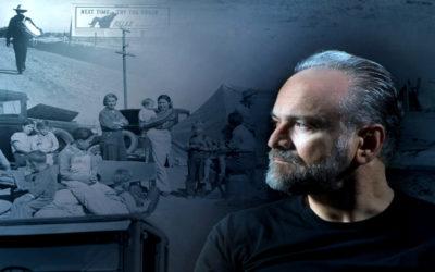 FURORE di John Steinbeck, adattamento di Emanuele Trevi, con Massimo Popolizio, musiche eseguita dal vivo di Giovanni Lo Cascio