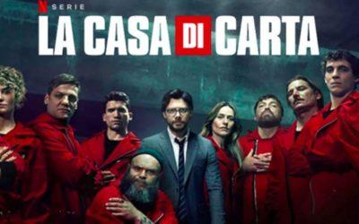 LA CASA DI CARTA regia di Jesùs Colmenar, Alex Rodrigo, Alejandro Bazzano, Miguel Angel Vivas, Javier Quintas – Netflix 2020
